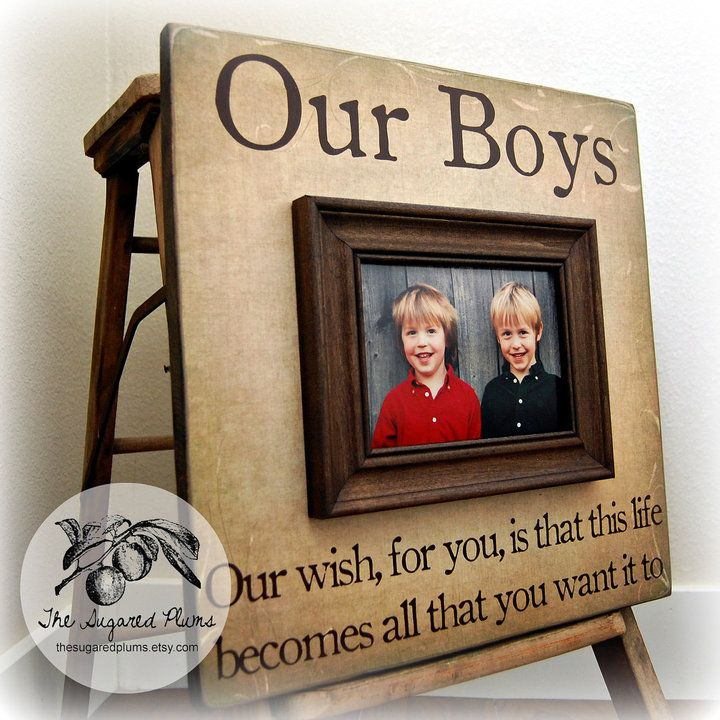 Etsy Fathers Day Our Boys Personalized Picture Frame 16x16 First Birtday Brothers Grandparents Sibling Gi Personalized Picture Frames Boy Frame Frame