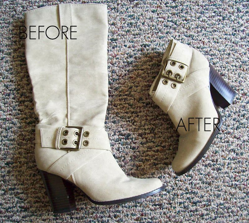 8bd12b67ac Easy Boot Makeover -- Not feeling those knee-high boots  Turn them into  ankle boots in a few easy steps.