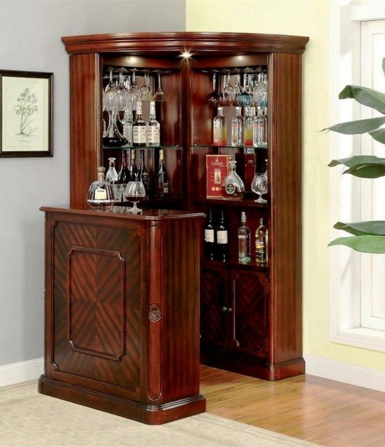 45 Amazing Corner Bar Cabinet Ideas
