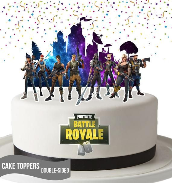 Printable Fortgame Cake Toppers Double Sided Fortgame