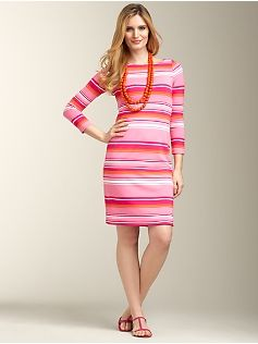 13b216ebaab Sangria-Stripe Boatneck Ponte Sheath. Did they even try this one a plus  size model before adding it to the collection  cute Plus Size Dresses ...