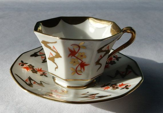 SALE P. T. Bavaria Tirschenreuth Cup and Saucer  by Petrushniks