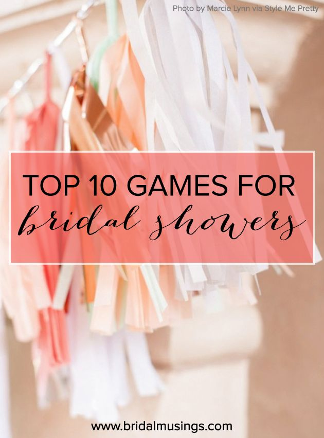 Top 10 Bridal Shower and Bachelorette Party Games Tops Hunts