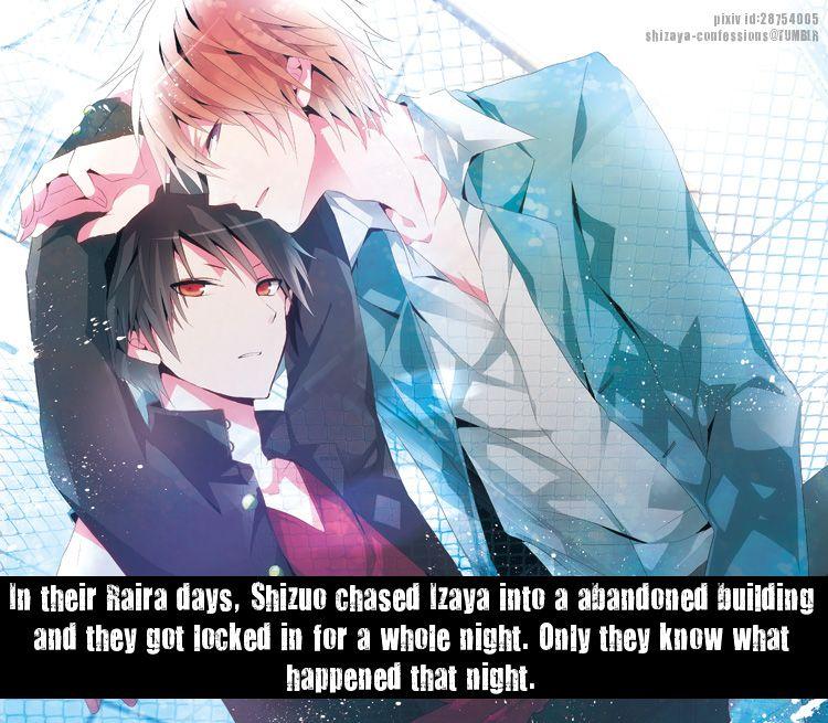 Shizaya Confessions In Their Raira Days Shizuo Chased Izaya Into