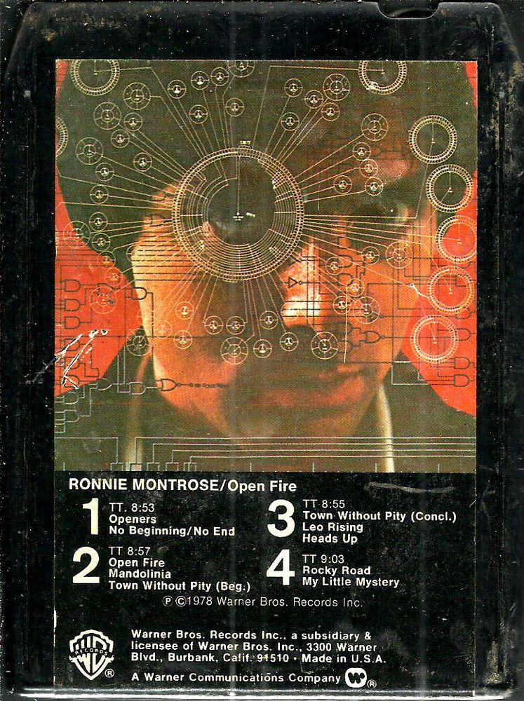 Ronnie Montrose Open Fire Rock Music 8 Track Tape Rock Rock