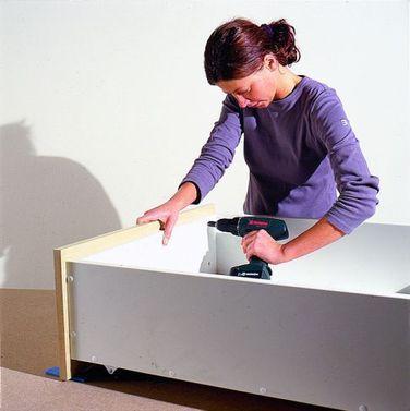 Podest mit Schubladen - küchenschrank selber bauen