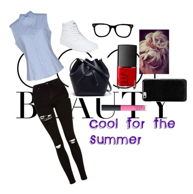 """""""COOL FOR THE SUMMER"""" by passion-is-fashion-1 ❤ liked on Polyvore featuring Robert Friedman, Topshop, Lacoste, NARS Cosmetics, Vans and Maison Margiela"""