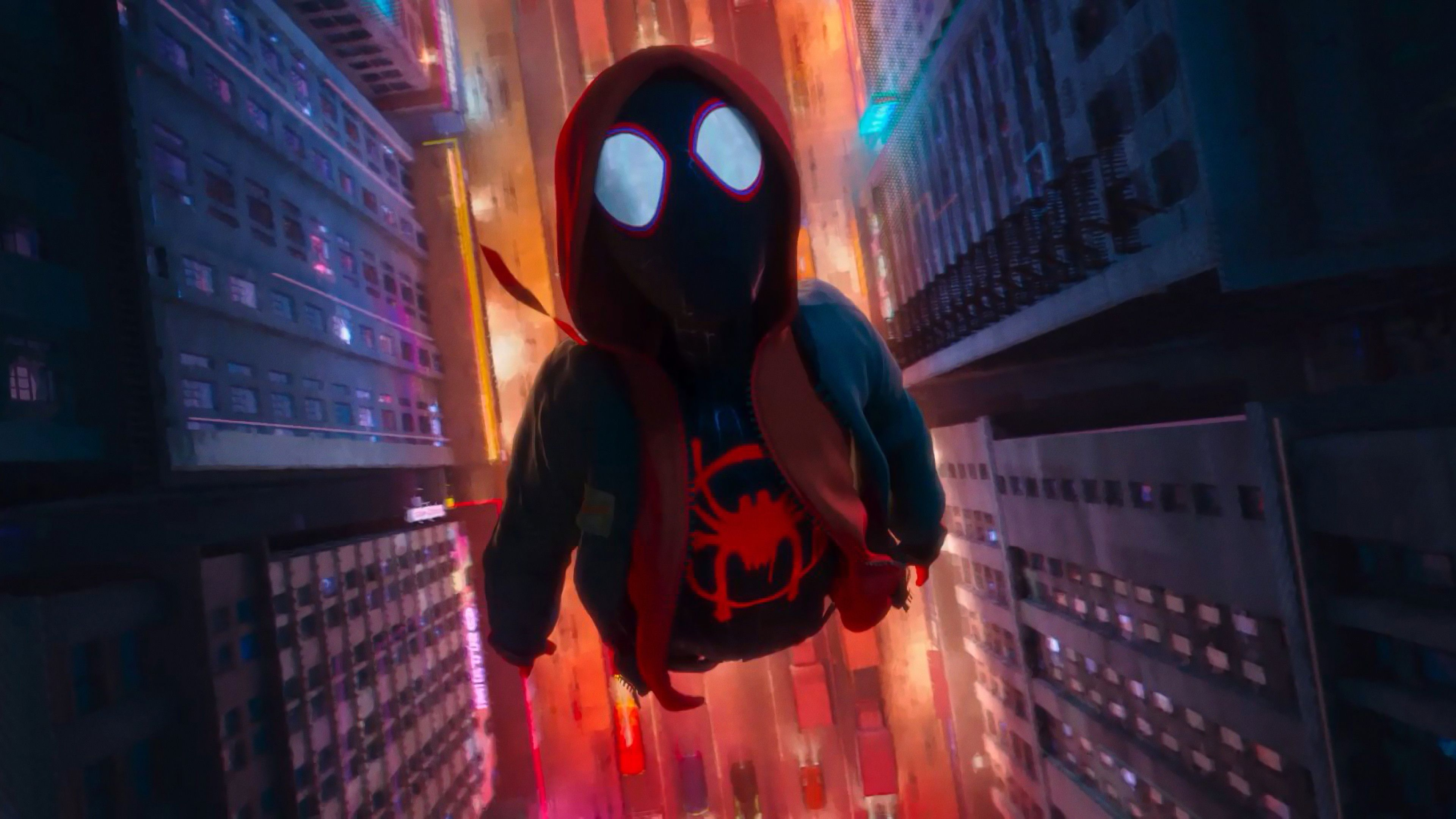 Wallpaper 4k Miles Morales In Spider Man Into The Spider Verse