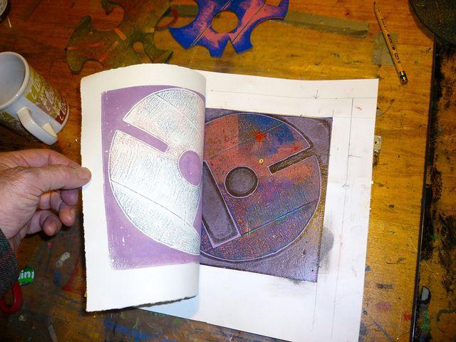 Mark Evans Image Galleries ABOUT GELATIN PLATE PRINTING