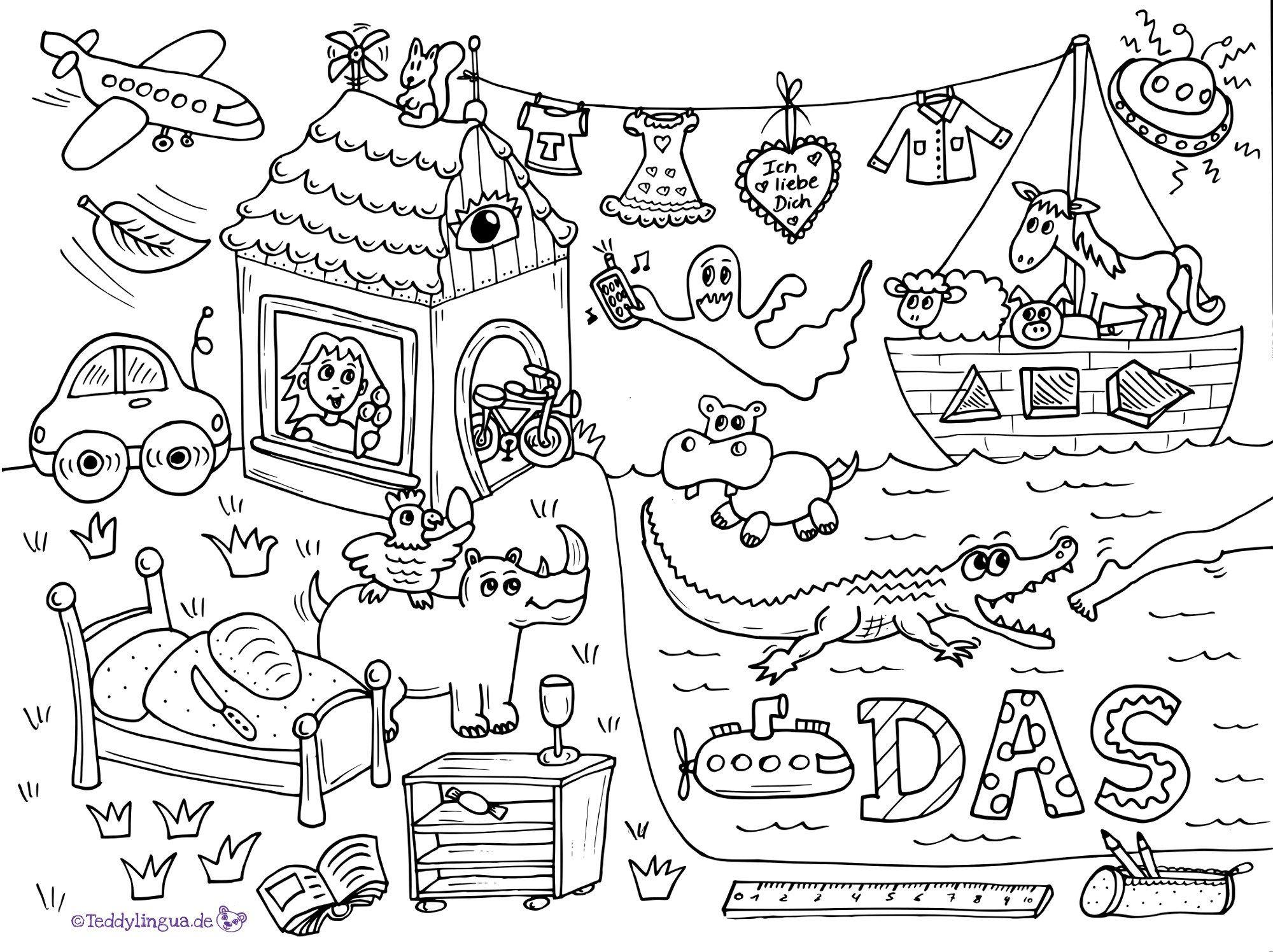 Ausmalbild Artikel DAS | Schule | Pinterest | Ausmalbilder ...