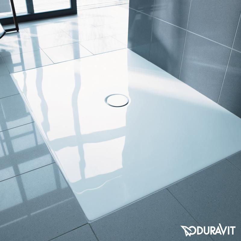 duravit duraplan die edle ebenerdige duschwanne ist aus. Black Bedroom Furniture Sets. Home Design Ideas