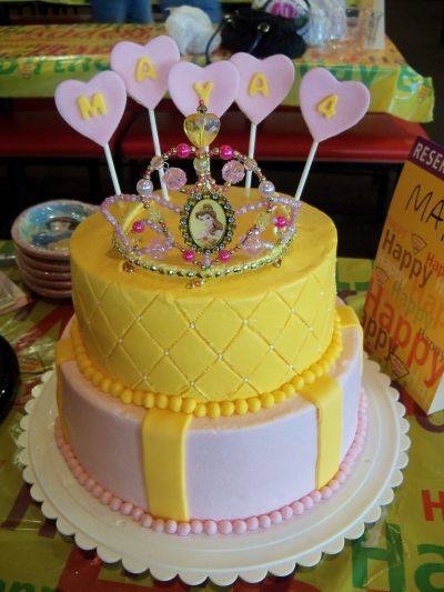 Belle Themed Birthday Cake By sburros on CakeCentralcom parties