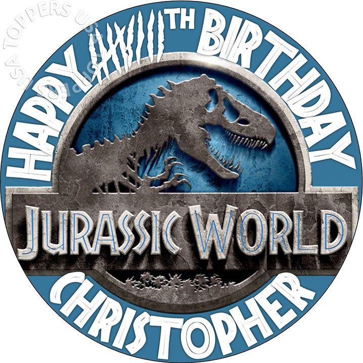 Edible Jurassic World Birthday Party Cake Topper Wafer Paper Round 7 5 Uncut Decor Decoration Dec Jurassic World Jurassic World Movie Jurassic World Trailer Información, novedades y última hora sobre dinosaurios. pinterest