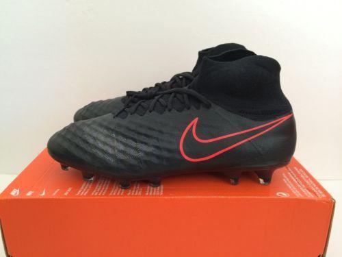 e3b7fb0bc Men Nike Magista Obra II FG Sz 11 Black Total Crimson Soccer Cleats 844595- 008