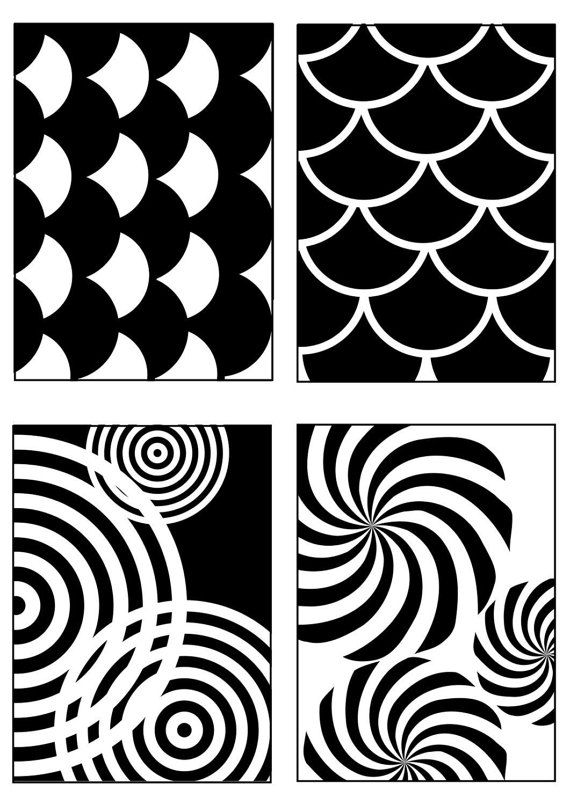 Set Of 40 High Contrast Montessori Inspired Images For Infants To