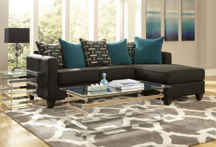 Unclaimed Freight Black Chaise Sectional My Style Pinterest