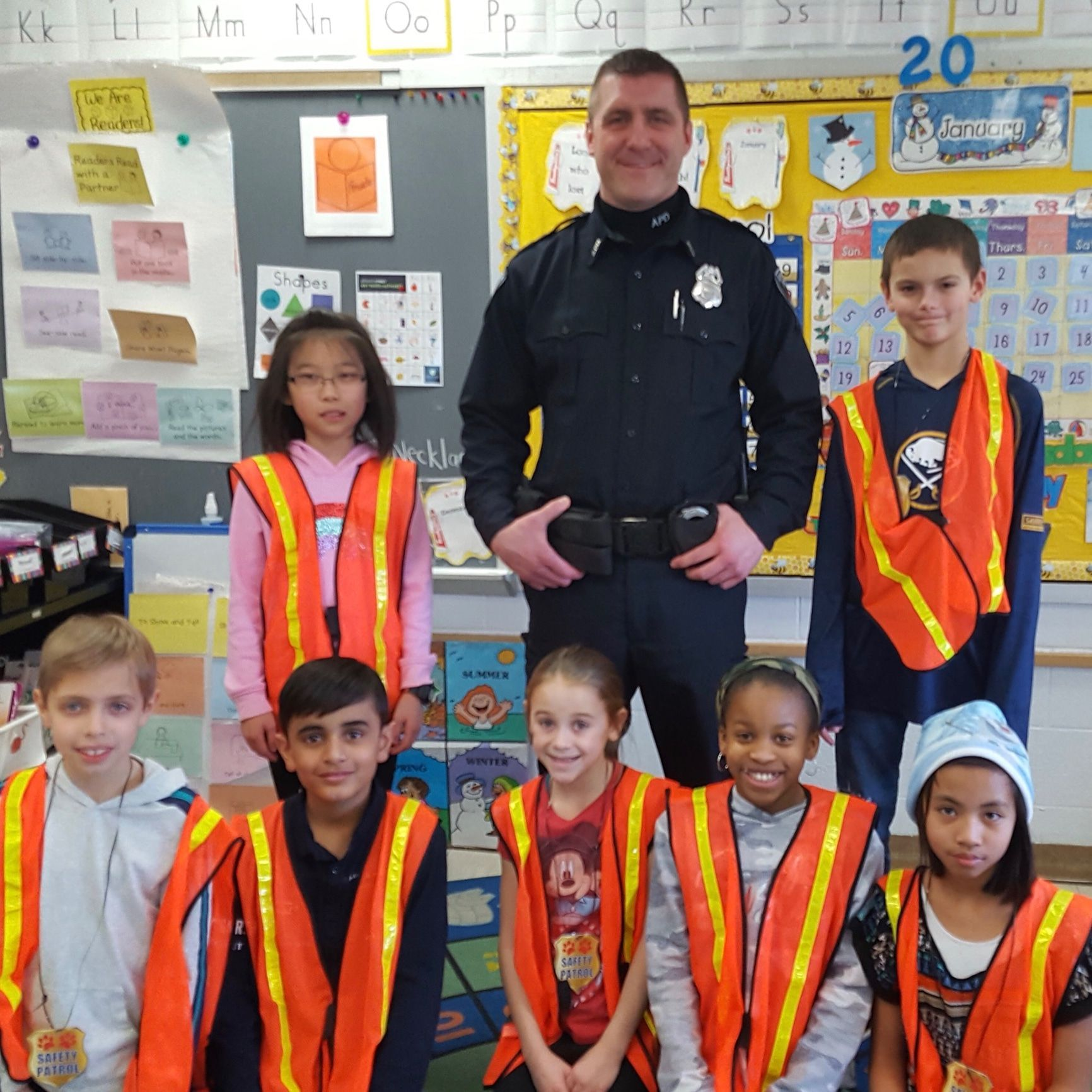 School Resource Officer Heim stopped by Heim Elementary