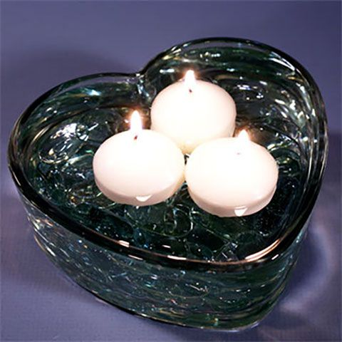 Heart-Shaped Glass Bowls, 6 in.