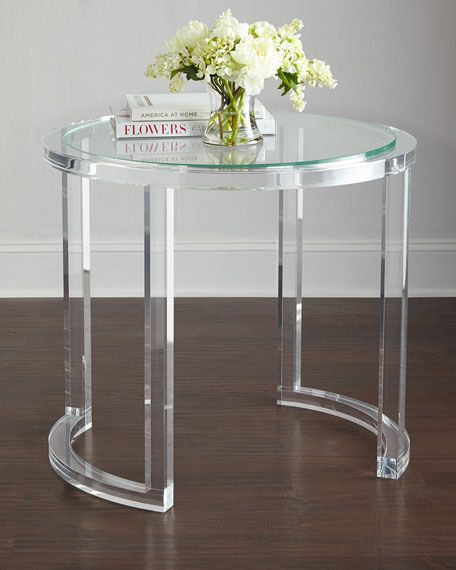 Abella Acrylic Entry Table Entry tables, Lucite furniture and