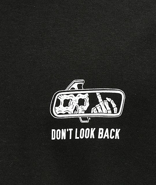 Lurking Class By Sketchy Tank Lurking Class Look Back Black T-Shirt