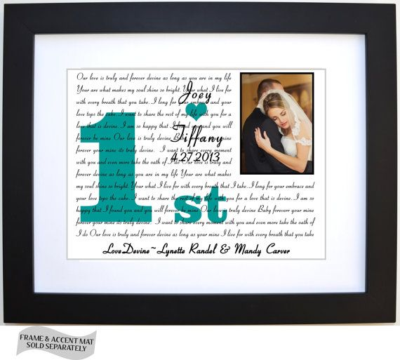 1st Anniversary Gift Personalized Any Year Custom Lyric First Dance Wedding Song Friend Brother Sister