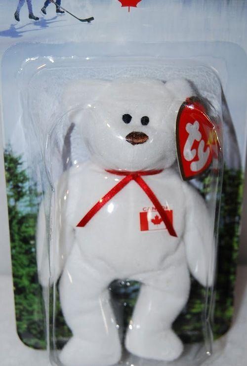 McDonald's 1999 Ty Teenie Beanie - International Maple the Bear (Canada)