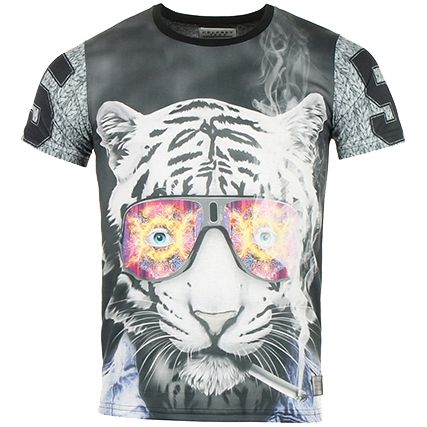 Tee Shirt Celebry Tees Tigre A Noir - LaBoutiqueOfficielle.com