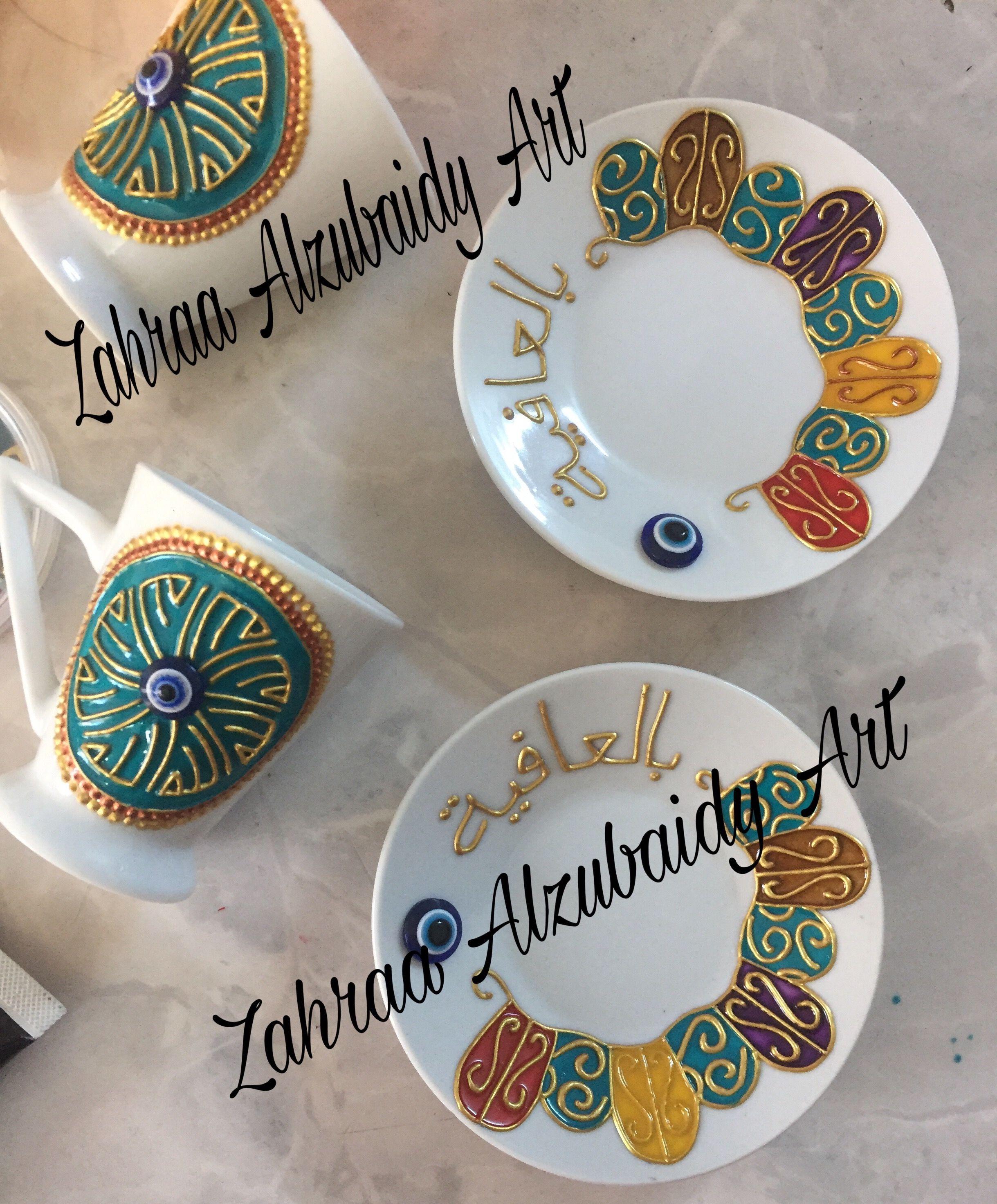 رسم على الفناجين باستعمال الوان الزجاج Painting Glassware Art Paint Party Hand Painted Glassware