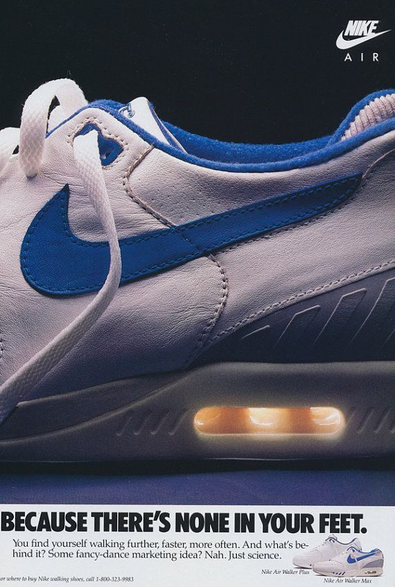 Nike Air Running Shoes, 1987 | Nike Ads in 2019 | Sneakers