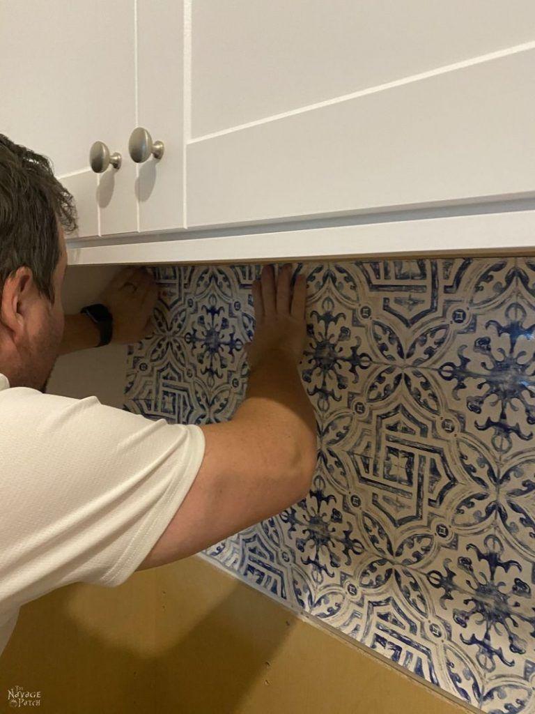 Diy Wallpaper Backsplash In 2021 Diy Wallpaper Diy Laundry Room Makeover Diy Backsplash