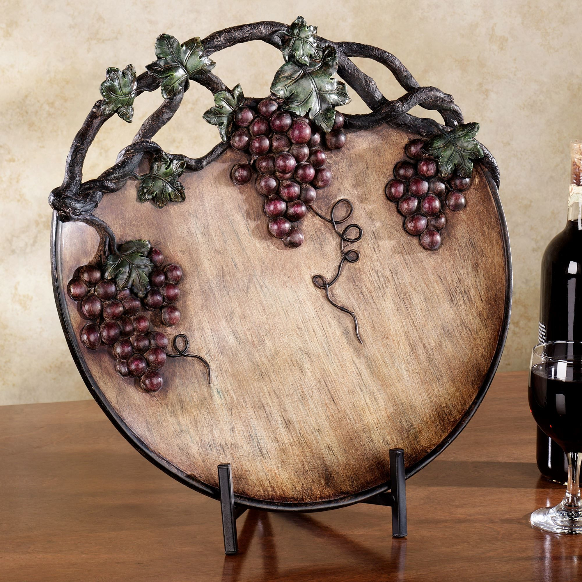 Grape Harvest Charger Plate Port | Home Decor: Decorative Chargers ...
