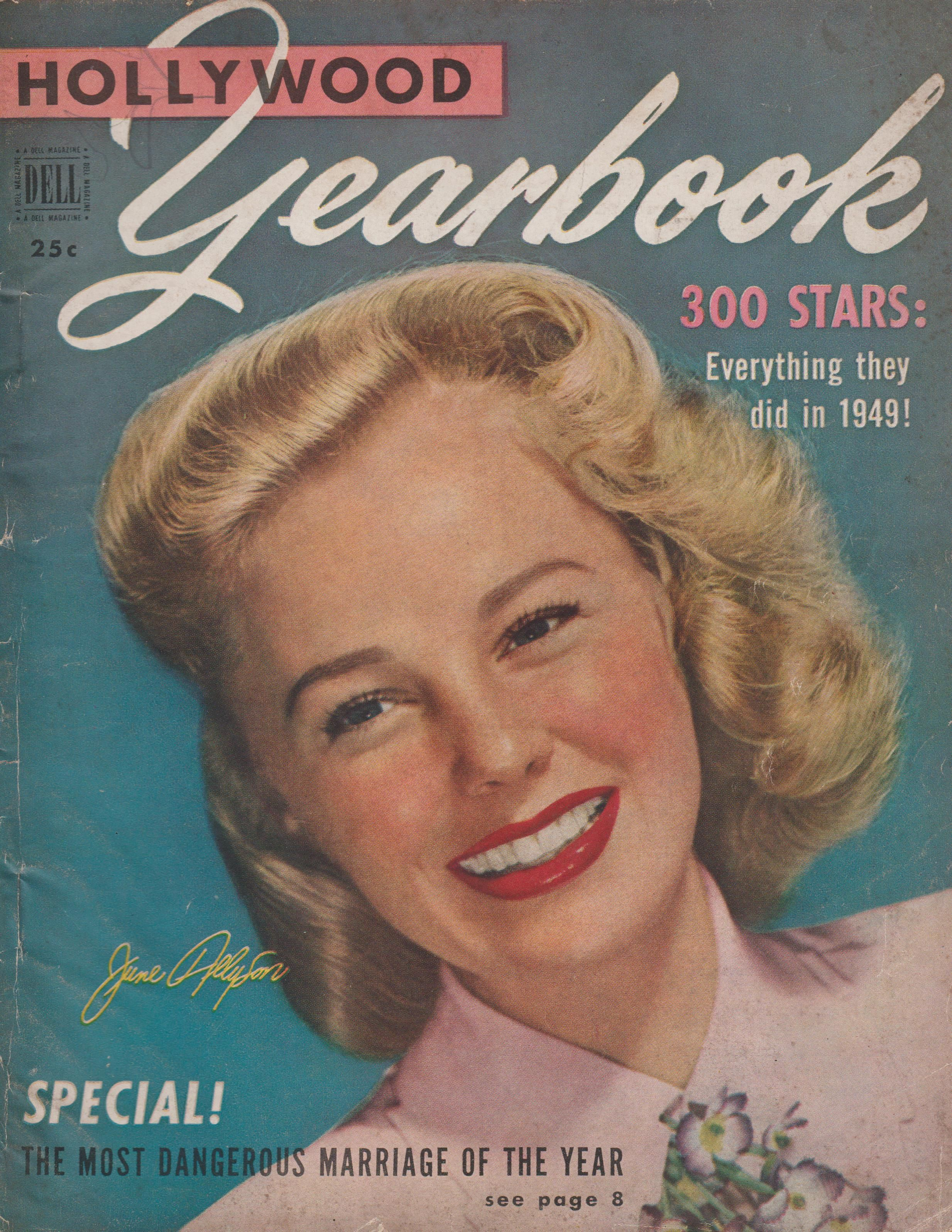 june allyson on the cover of quothollywood yearbookquot magazine