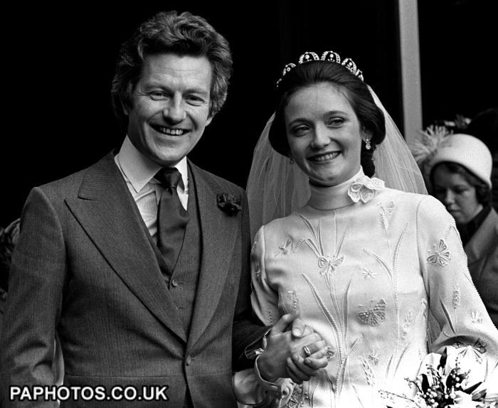The Wedding of the 5th Earl of Lichfield and Lady Leonora Grosvenor on 8 March 1975 at Chester Cathedral.