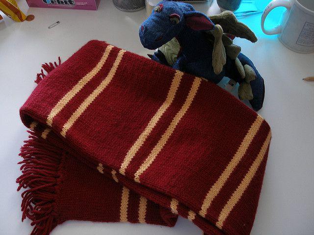 Harry Potter Gryffindor Scarf Poa Style Patterns Knit Patterns