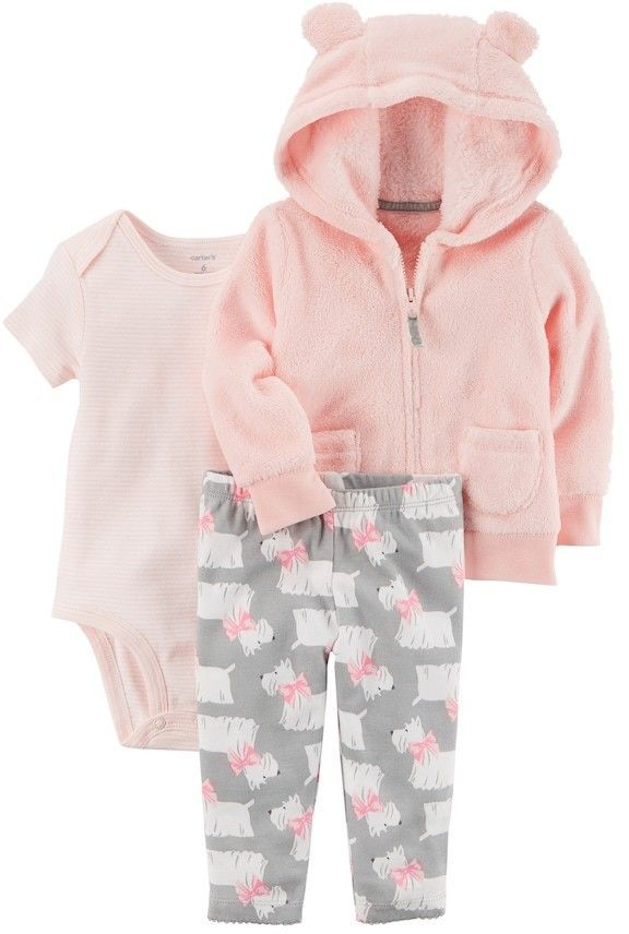 67da848e398d Baby Girl Carter s Sherpa 3D Ear Hooded Jacket