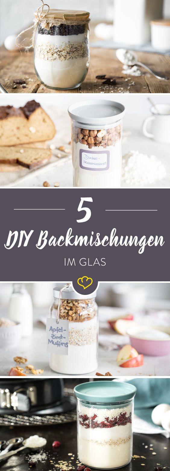 Geschenke aus der Küche: 5 Backmischungen im Glas | Healthy Food ...