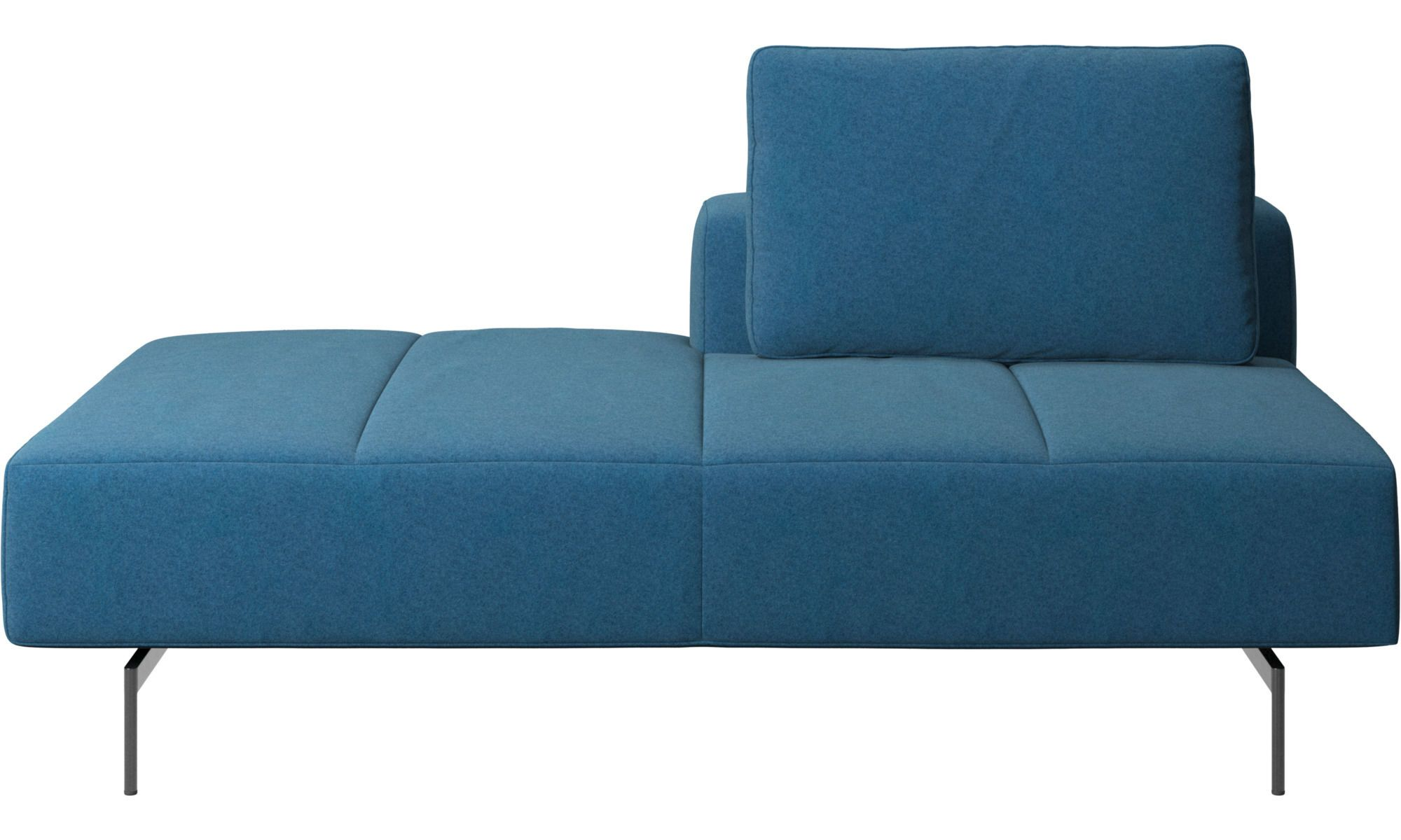Amsterdam Iounging Module For Sofa Back Rest Right Open End Left Occasional Chairs Sofa Blue Fabric