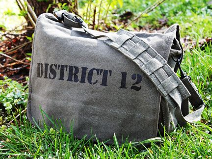 District 12 military messenger bag