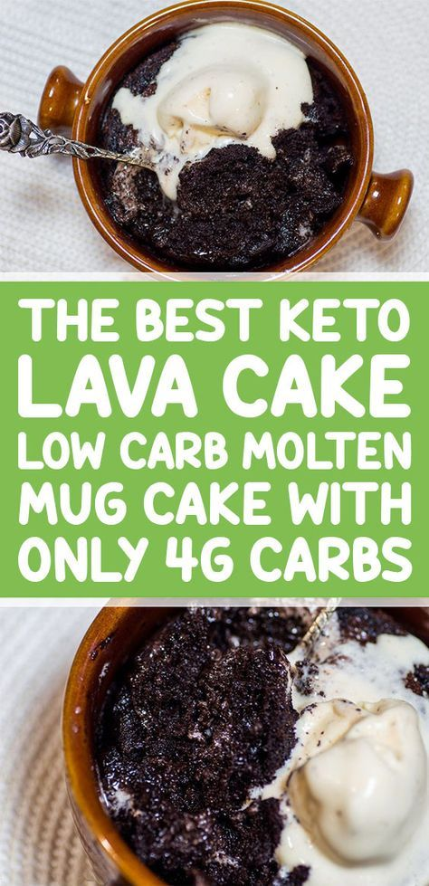 The Best Keto Lava Cake: Low Carb Molten Mug Cake with ...