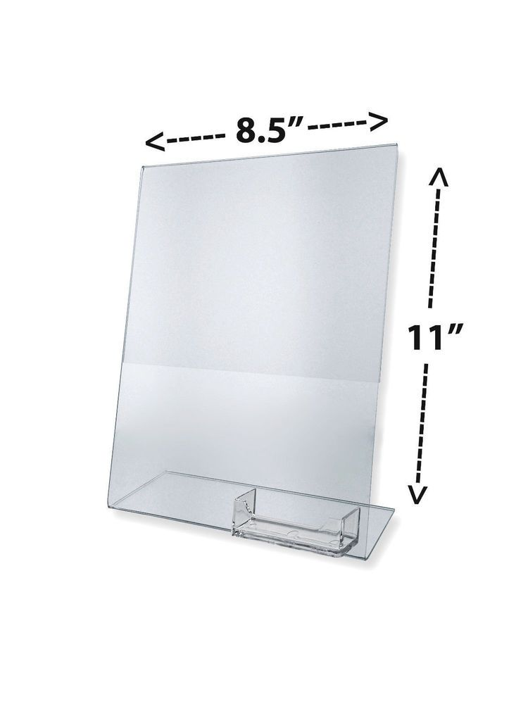 Flyer Display with Business Card Holder Clear Counter Top Display ...