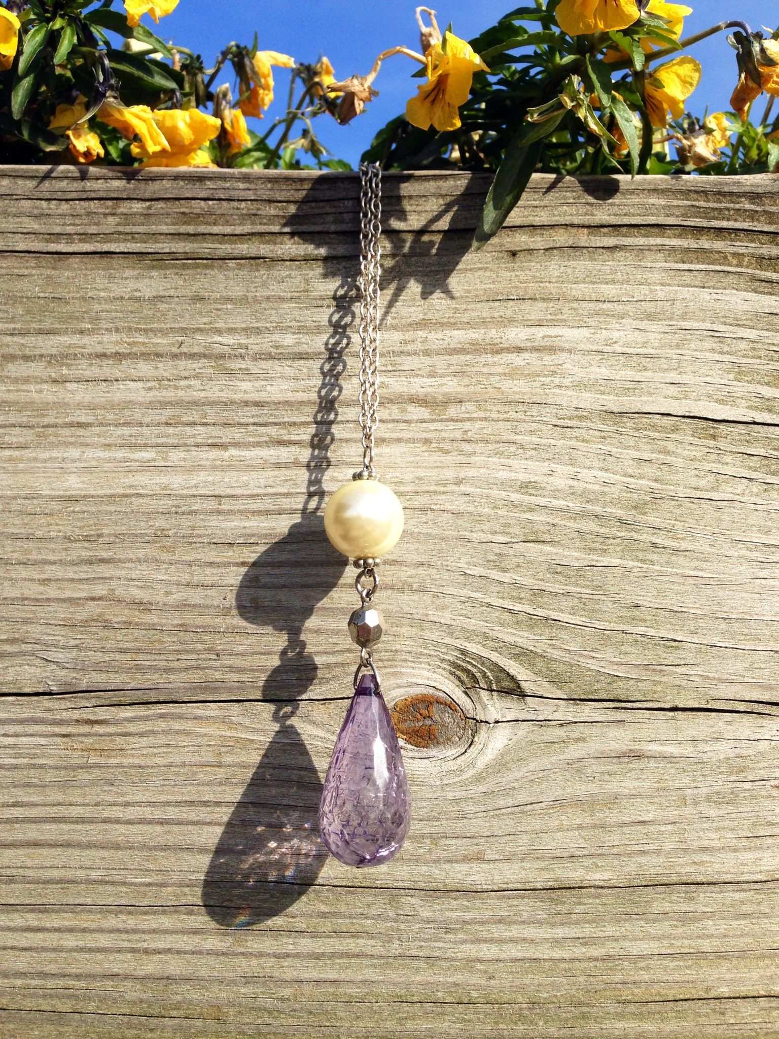 We love this necklace made by Anna Claire Stapleton! So many more colors in the store for $29.00!