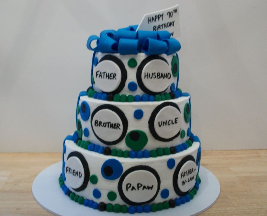 70Th Birthday Cake on Cake Central party Pinterest 70th