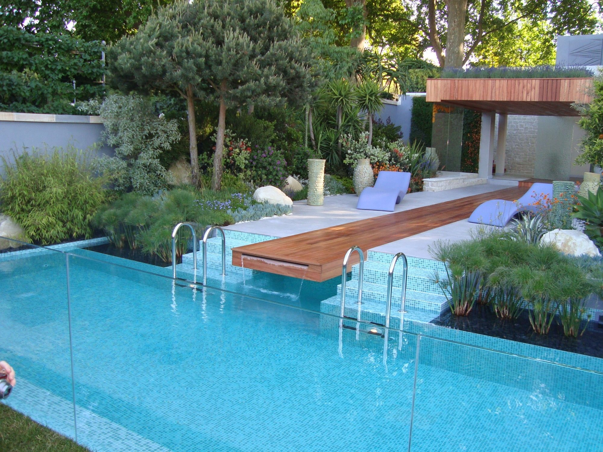 Monaco gardens Chelsea garden show Garden swimming pool