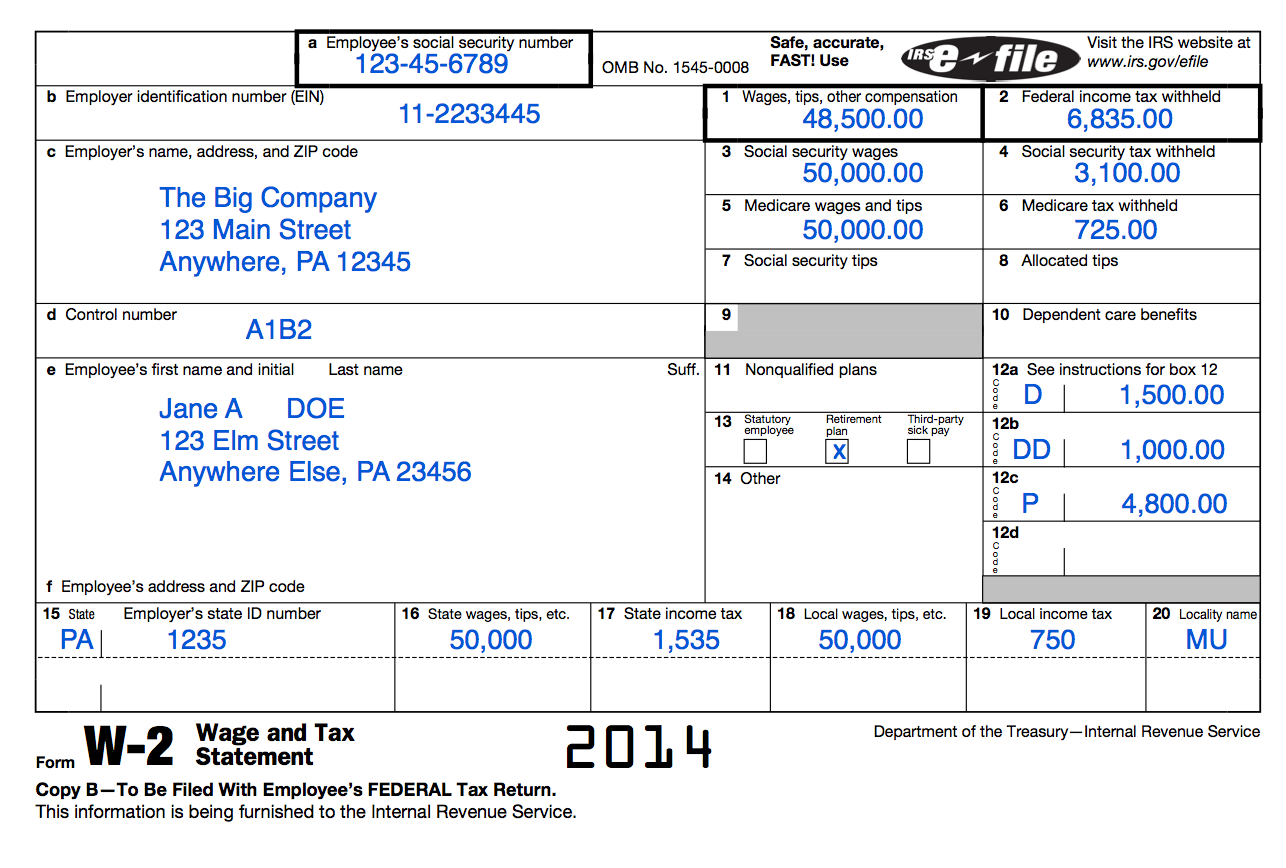Understanding Your Tax Forms The W 2