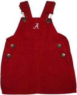 """Alabama Crimson Tide Script """"A"""" Jumper Dress"""