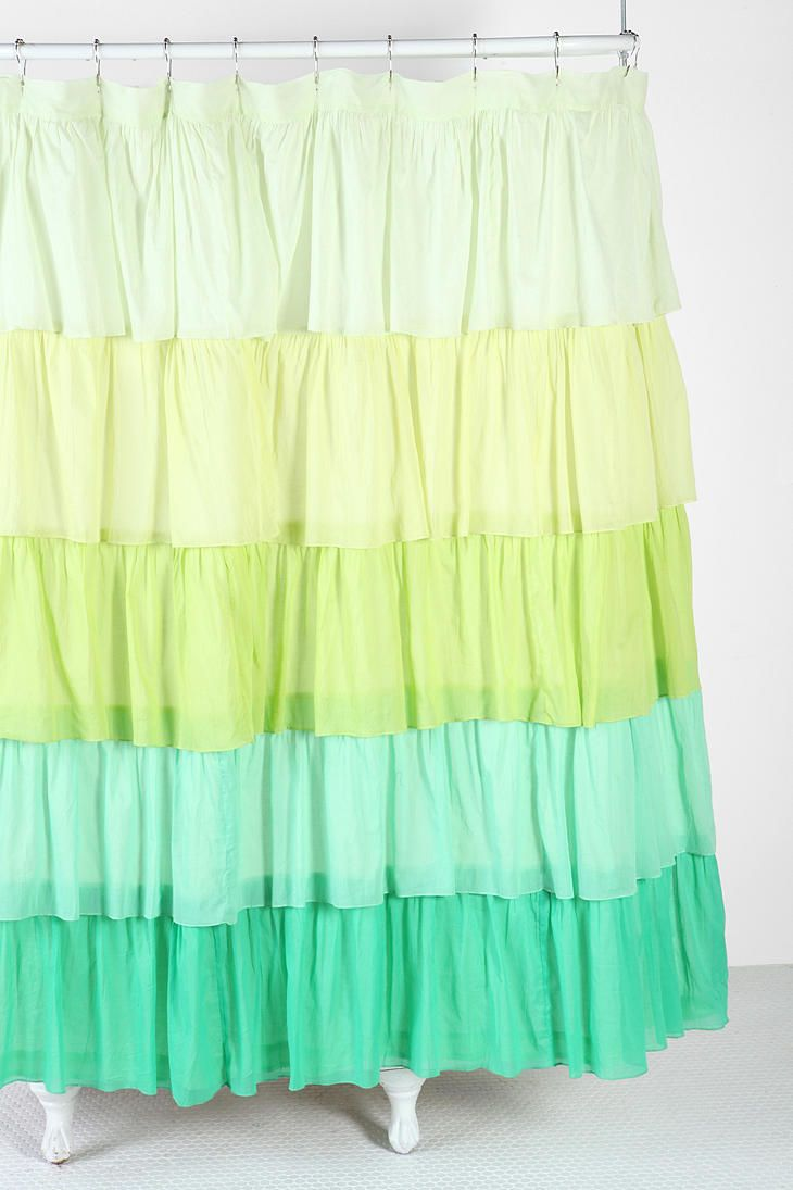 Ombre Ruffle Shower Curtain #UrbanOutfitters