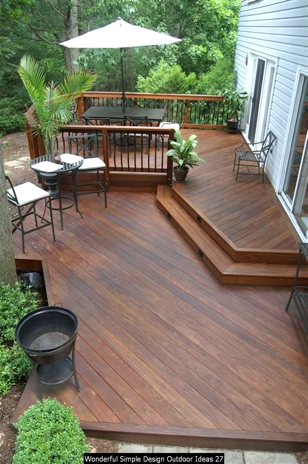 Wonderful Simple Design Outdoor Ideas In 2020 Backyard Patio Patio Design Patio Deck Designs