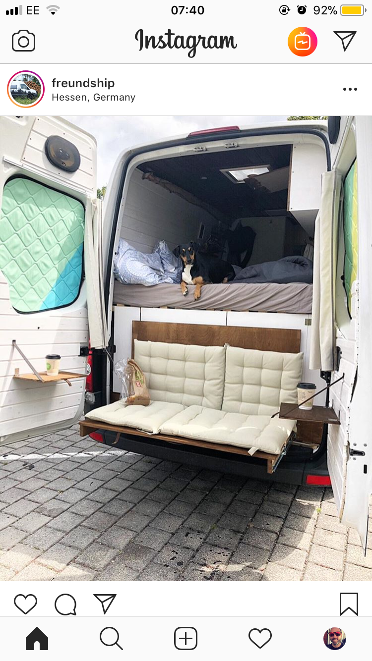 Removal Back Bench Seat In Front Of Storage Camper Van