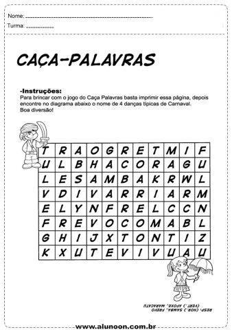 37 Atividades de Carnaval para Imprimir - Educação Infantil - Aluno On