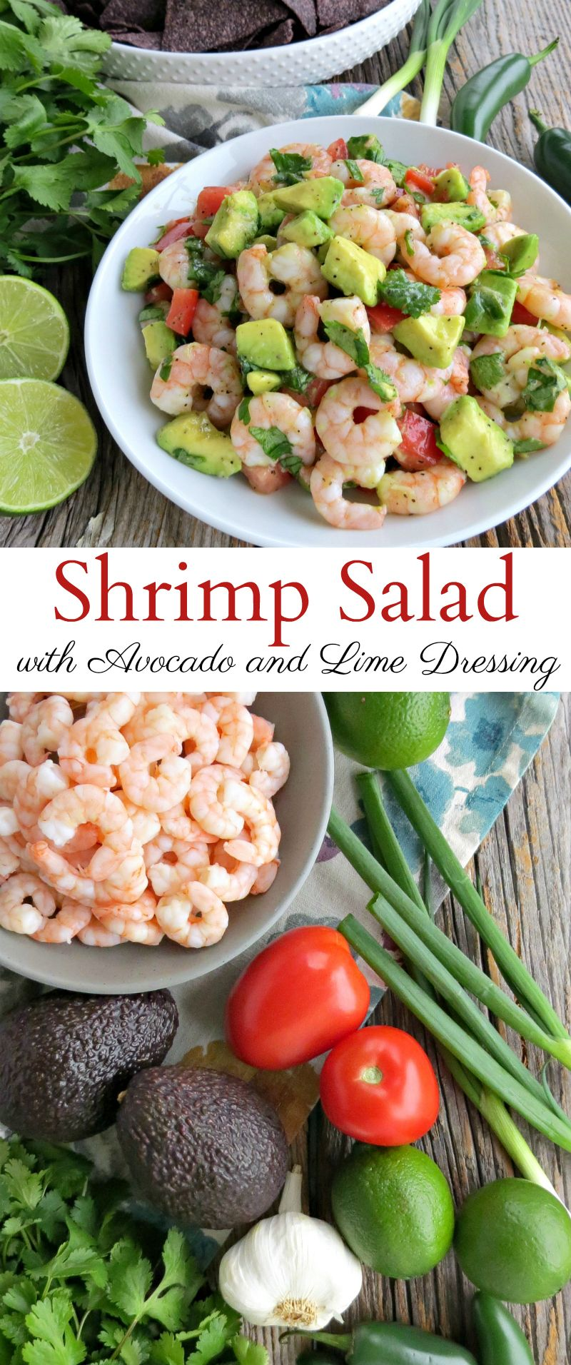 My Healthy Shrimp And Avocado Salad With Lime Dressing Is
